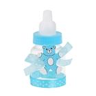 Бонбоньерка «Бутылочка с мишкой и бантиком», цвет голубой