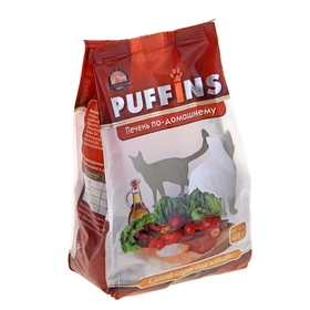 Сухой корм Puffins для кошек, печень по-домашнему, 400 г Ош