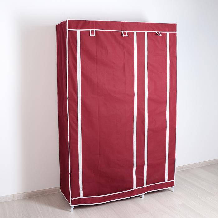 Шкаф для одежды, 108×43×172 см, цвет бордовый