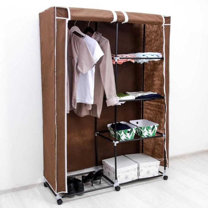 Шкаф для одежды, 117×44×171 см, цвет коричневый