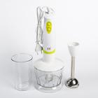 Блендерный набор Irit IR-5507, 200 Вт, 2 скорости, стакан + измельчитель, белый/зелёный