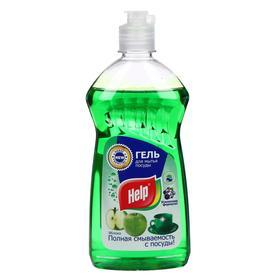 Средство для мытья посуды HELP Яблоко, 500 мл