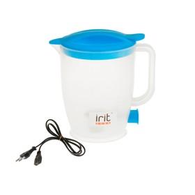 Чайник электрический Irit IR-1121, 550 Вт, 1 л, пластик, синий Ош