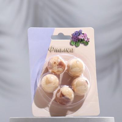 Арома-саше деревянные шарики (набор 5 шт), аромат фиалка - Фото 1
