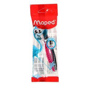 Циркуль пластиковый Maped Essentials, 120 мм, с безопасной иглой, в европодвесе Ош