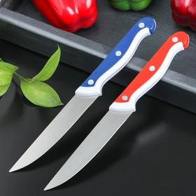 Нож кухонный «Волна», лезвие 10 см, цвет МИКС