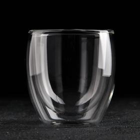 Стакан Magistro «Олд фэшн», 200 мл, стеклянный, с двойными стенками