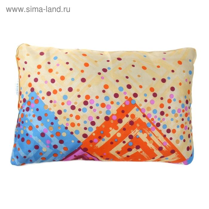 Подушка Адамас синтетическая, размер 40х60 см, холлофайбер, чехол МИКС