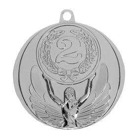 Медаль призовая, 2 место, серебро, d=4,5 см Ош