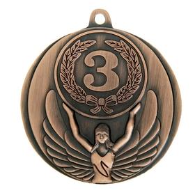 Медаль призовая, 3 место, бронза, d=4,5 см Ош