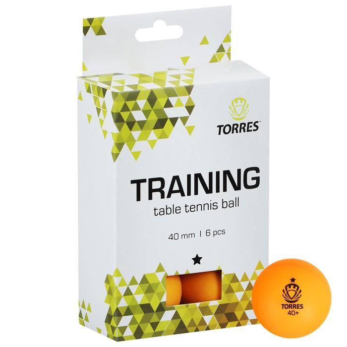 Мяч для настольного тенниса Torres Training, 1 звезда, набор 6 шт., цвет оранжевый