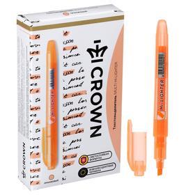 Маркер текстовыделитель 4.0 Crown H-500 оранжевый Ош