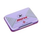 Подушка штемпельная 70х48 мм, фиолетовая, металлическая
