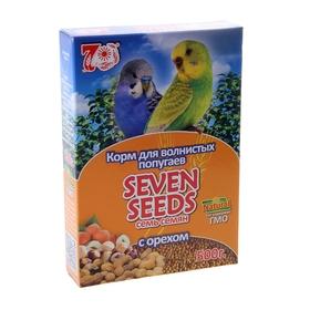 Корм Seven Seeds для волнистых попугаев, с орехами, 500 г