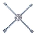 Ключ баллонный крестообразный усиленный TUNDRA, 16 х 350 мм, сатин, 17х19х21х23 мм