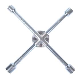 Ключ баллонный крестообразный усиленный TUNDRA, 16 х 350 мм, сатин, 17х19х21х23 мм Ош