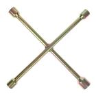 Ключ баллонный крестообразный TUNDRA, 16 х 350 мм, желтый цинк, 17х19х21х23 мм