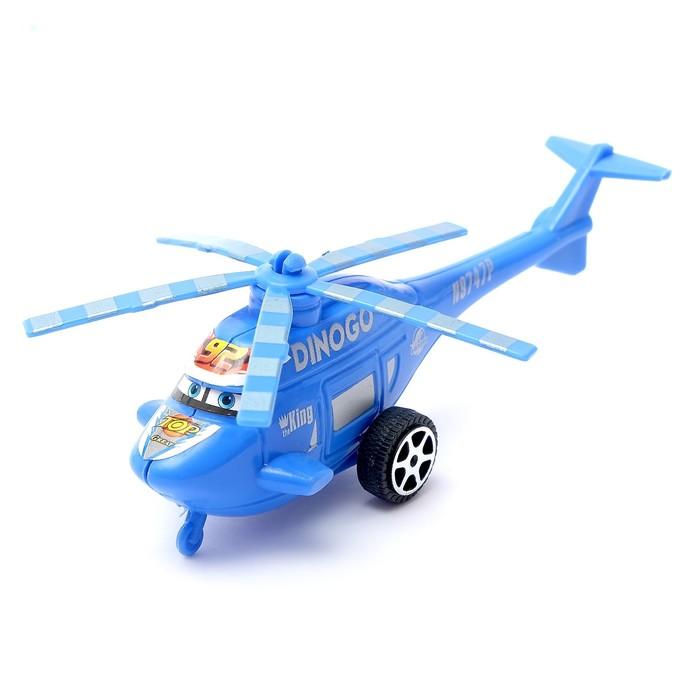 Вертолёт инерционный Глазастик, цвета МИКС