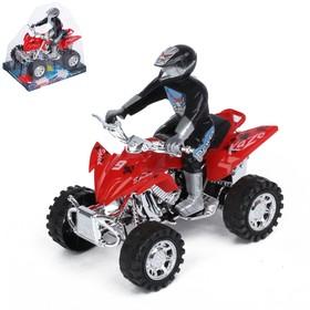 Мотоцикл инерционный «Квадрик», с гонщиком, цвета МИКС Ош