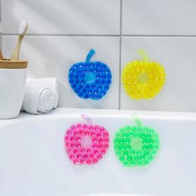 Мини-коврик для ванны «Яблоко», 8×8 см, цвет МИКС Ош