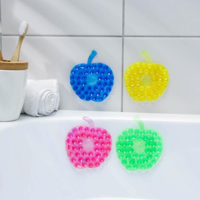Мини-коврик для ванны Яблоко, 88 см, цвет МИКС