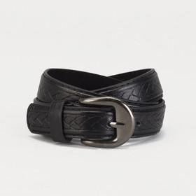 Ремень детский, винт, пряжка под металл, ширина - 2см, 75-90 см, цвет чёрный