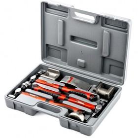 Набор рихтовочный MATRIX, 3 молотка с фибергласовыми ручками, 4 наковальни, в боксе Ош