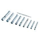Набор ключей-трубок торцевых Sparta, 10 предметов, 6 х 22 мм, 1 вороток, оцинкованные