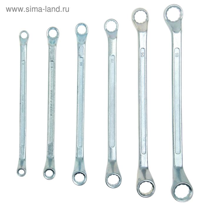 Набор ключей накидных Sparta, 6 шт, 6–17 мм, хромированные