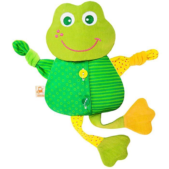 "Развивающая игрушка с вишневыми косточками ""Лягушка. Доктор мякиш"""