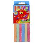 Мел школьный, цветной, набор из 12 штук, 6 цветов, квадратный, беспыльный, в картонной коробке