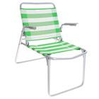 Кресло-шезлонг складное, 73 x 57 x 64 см, сетка, салатово-белый 1 К1