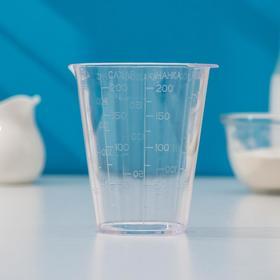 Мерный стакан для сыпучих продуктов, 250 гр, цвет прозрачный