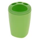 """Подставка для зубных щёток """"Aqua"""", цвет зелёный"""