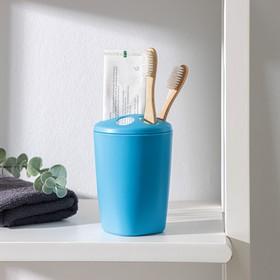 Подставка для зубных щёток Aqua, цвет голубая лагуна Ош