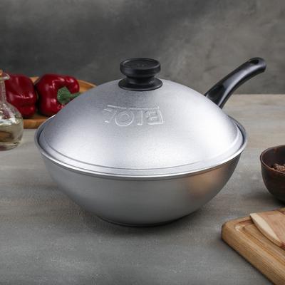 Сковорода-Wok, d=26 см, алюминиевая крышка - Фото 1