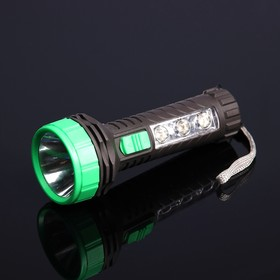 Фонарь ручной CF-1164, 2 типа освещения, 4 LED, рассеиватель, 1 АА, микс, 5.5х14 см Ош