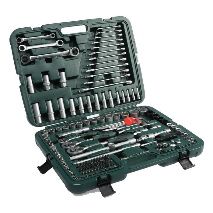купить Набор инструментов в кейсе TUNDRA, автомобильный, CrV, 160 предметов