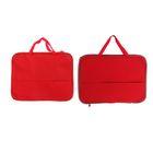 Папка с ручками текстиль А4, 20 мм, 350 х 275 мм, «Офис», ПДМ-4 с карманом, Красная