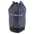 Сумка для сменной обуви с круглым дном и дополнительным отделением на молнии 410х335 мм, серо-чёрная
