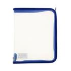 Папка пластиковая А5, молния вокруг, прозрачная, «Офис», ПМ-А5-01, синяя