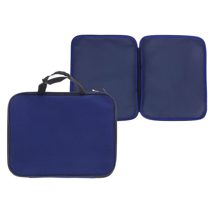 Пaпка с ручками текстильная, А4, 350 х 275 х 20 мм, «Офис», синяя