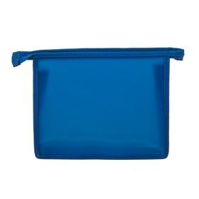 Папка пластиковая А5, молния сверху, «Офис», цветная, текстура поверхности «песок», ПМ-А5-00, синяя Ош