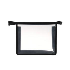 Папка пластиковая А5, молния сверху, прозрачная, «Офис», ПМ-А5-00, чёрная Ош