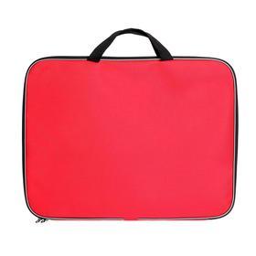 Папка А3 с ручками, текстильная, 470 х 350 х 20 мм, «Стандарт», цвет Красный, плотность 600D (для чертежей и рисунков) Ош