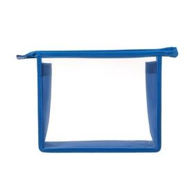 Папка пластиковая А5, молния сверху, прозрачная, «Офис», ПМ-А5-00, синяя Ош