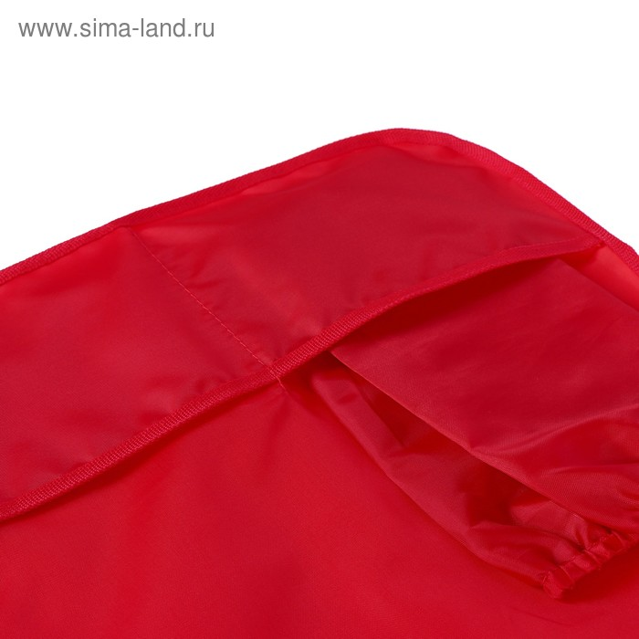 Фартук для труда + нарукавники 490 х 390/250 х 160 мм, Стандарт (рост 116-152 см), красный