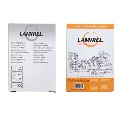 Пленка для ламинирования 100шт Lamirel 65x95мм 125мкм