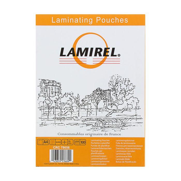 купить Пленка для ламинирования 100шт Lamirel А4, 75мкм