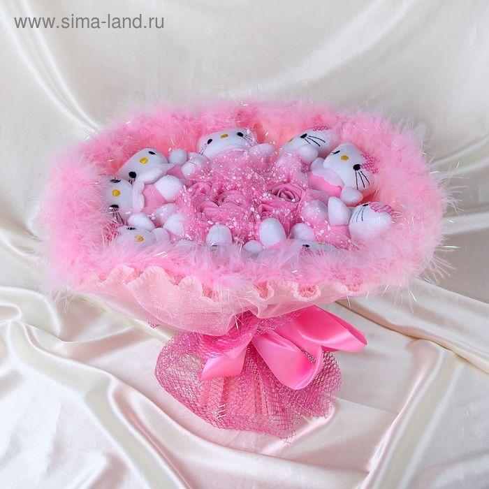 """Букет из игрушек """"Hello kitty"""" розовый"""